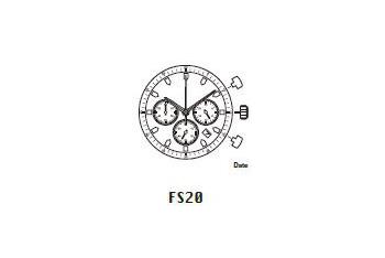 Mechanizm Kwarcowy MIYOTA FS20