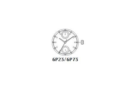 MIYOTA 6P73 - wysoka oś wskazówkowa