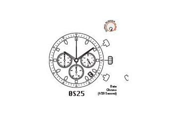 Mechanizm Kwarcowy MIYOTA OS25