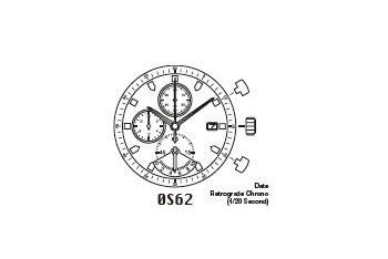 Mechanizm Kwarcowy MIYOTA OS62