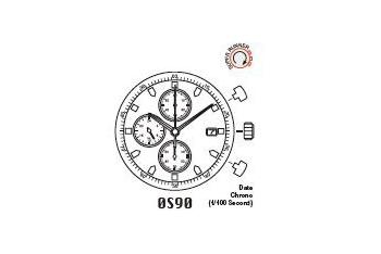 Mechanizm Kwarcowy MIYOTA OS90