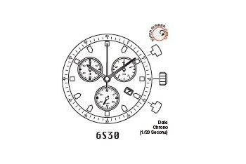 Mechanizm Kwarcowy MIYOTA 6S30