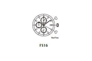 Mechanizm Kwarcowy MIYOTA FS16